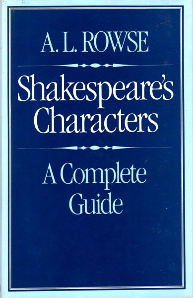 Image for Shakespeare's characters : A complete guide