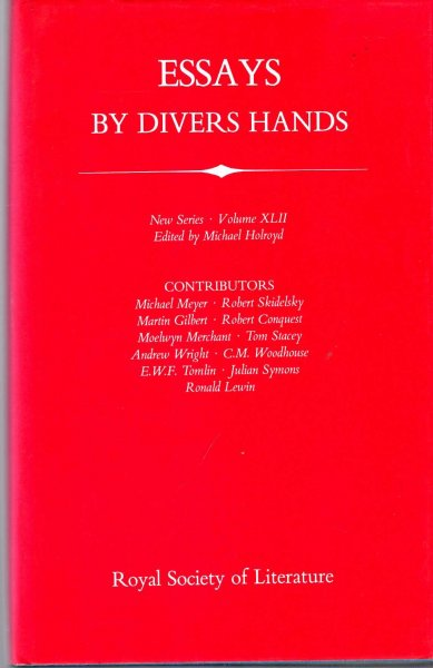 Image for Transaction of The Royal Society of Literature: volume XLII (42) : Essays by Divers Hands