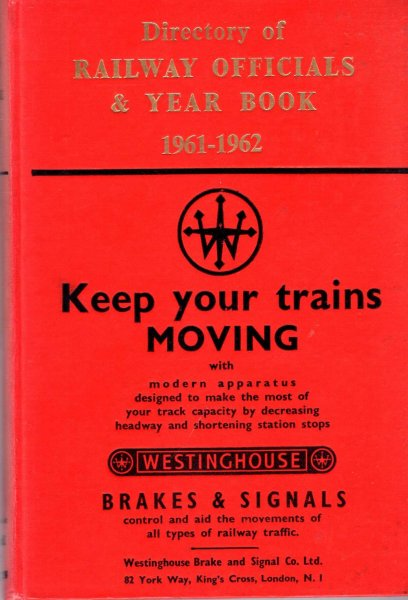 Image for Directory of Railway Officials & Year Book 1961-1962