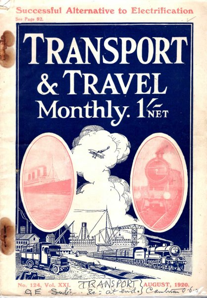 Image for Transport and Travel Monthly, No 124, vol XXL, August 1920