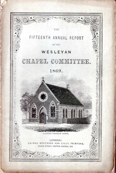 Image for The Fifteenth Annual Report of the Wesleyan Chapel Committee, 1869