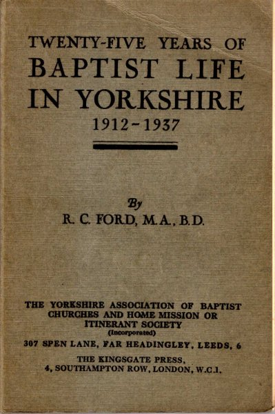 Image for Twenty-Five Years of Baptist Life in Yorkshire 1912-1937