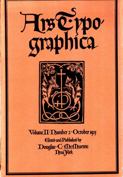 Image for Ars Typographica, volume II, Number 2, October 1925