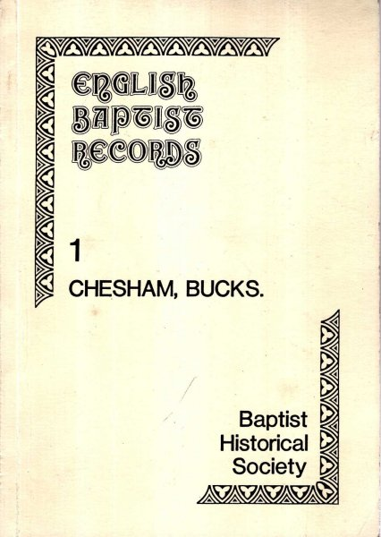 Image for English Baptist Records No 1 : Chesham, Bucks.