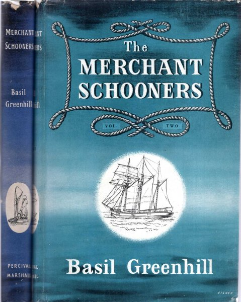 Image for The Merchant Schooners, a survey of the history of the small fore and aft rigged merchant sailing ships of England and Wales 1870-1940 (two volumes complete)