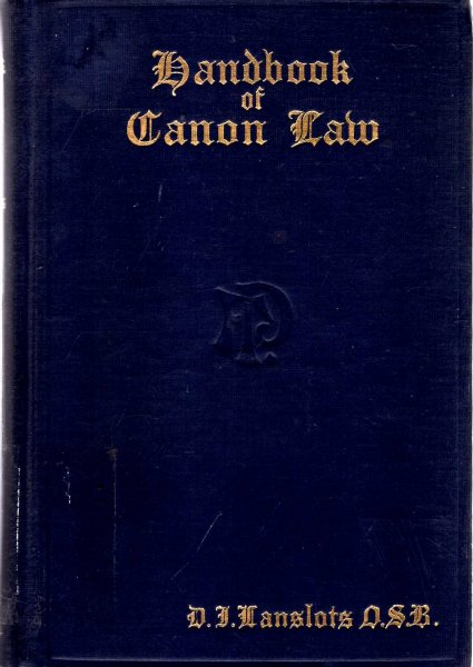 Image for Handbook of Canon Law  for Congregations of Women Under Simple Vows