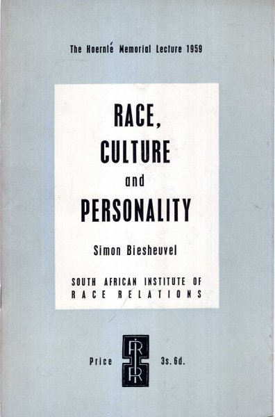 Image for Race, Culture and Personality
