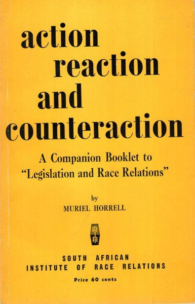 "Image for Action, Reactiom and Counteraction, a companion booklet to ""Legislation and Race Relations"""