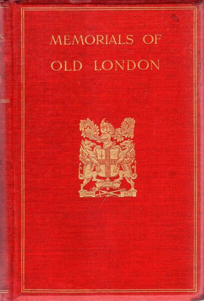 Image for Memorials of Old London, volume I [of two]