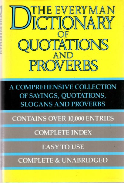 Image for The Everyman Dictionary of Quotations and Proverbs