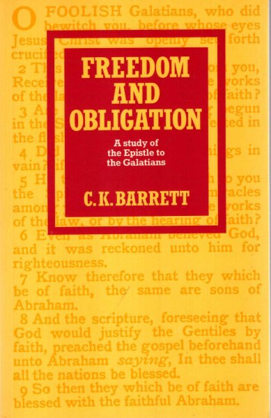 Image for Freedom and Obligation : A Study of the Epistle to the Galatians