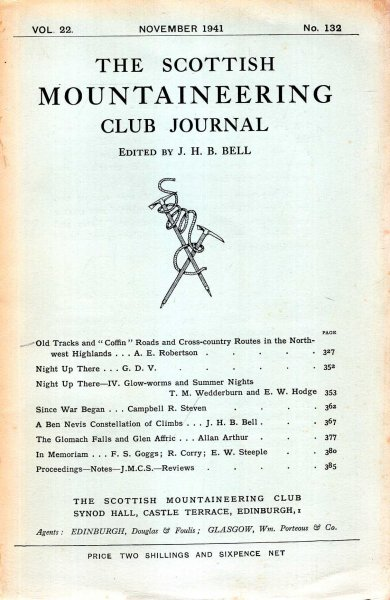 Image for The Scottish Mountaineering Club Journal, volume 22, No 132 November 1941