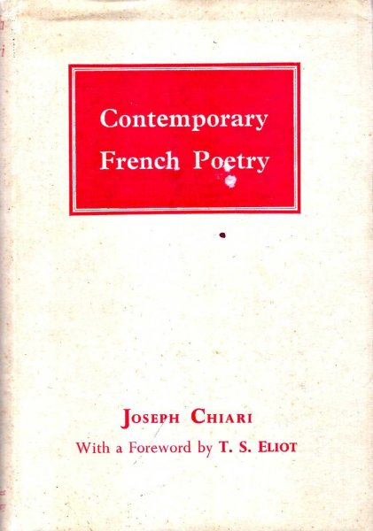 Image for Contemporary French Poetry
