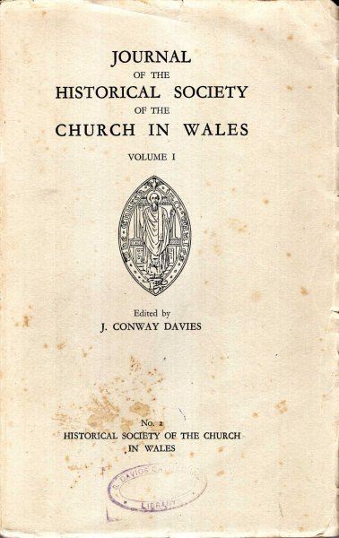 Image for Journal of the Historical Society of the Church in Wales, volume I