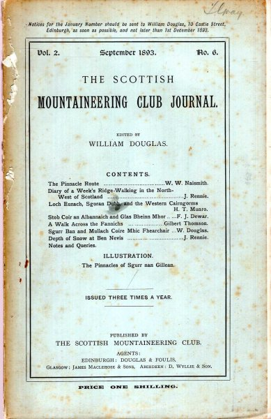Image for The Scottish Mountaineering Club Journal, volume 2, No 6 Spring 1893