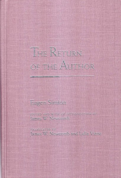 Image for The Return of the Author