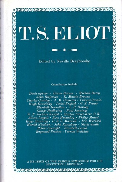 Image for T.S.Eliot : A Symposium for His Seventieth Birthday