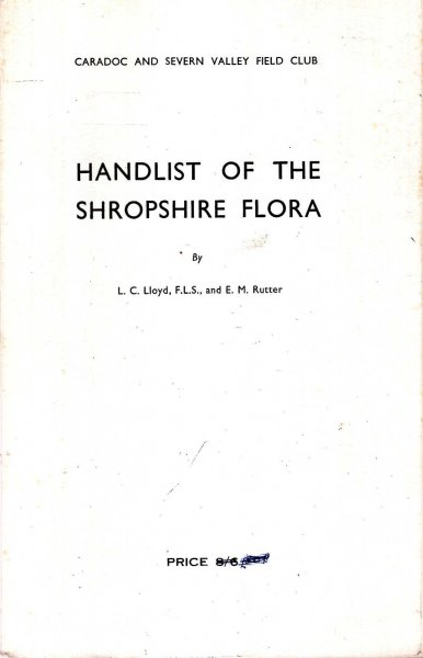 Image for Handlist of the Shropshire Flora