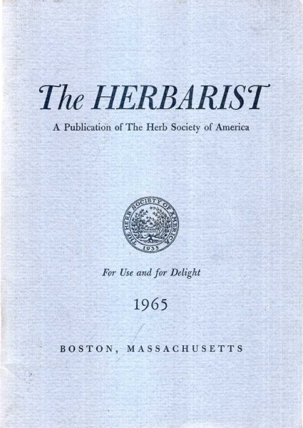 Image for The Herbarist, a publication of the Herb Society of America, No 31