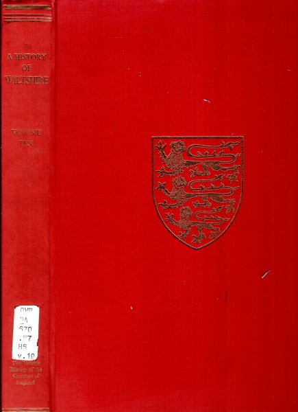 Image for The Victoria History of the Counties of England : A History of Wiltshire : Volume X (10)