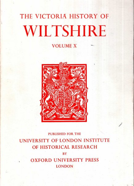 Image for A History of Wiltshire : Volume X (Victoria County History)