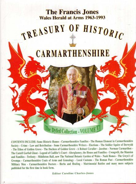 Image for Treasury of Historic Carmarthenshire (Dyfed Collection volume VI)