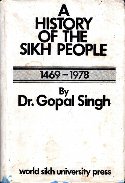 Image for A History of the Sikh People 1469-1978