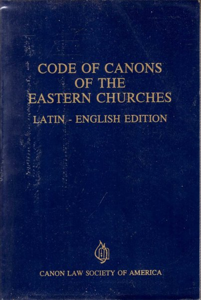 Image for Code of Canons of the Eastern Churches Latin-English edition