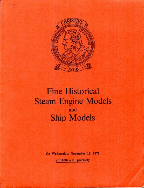 Image for Fine Historical Steam Engine Models and Ship Models, Railway Relics, Locomotive Name Plates  : Nov 17, 1971