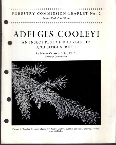 Image for Forestry Commission Leaflet No 2 : Adelges Colleyi : an insect pest of Douglas Fiir and Sitka Spruce