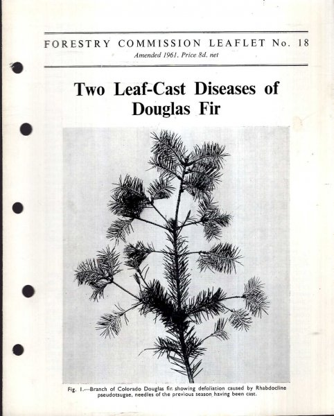 Image for Forestry Commission Leaflet No 18 : Two Leaf-Cast Diseases of Douglas Fir