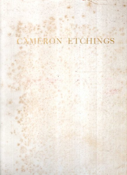 Image for D.Y. Cameron's Etchings with An Introductory Essay