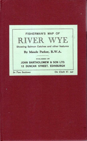 Image for Fisherman's Map of the River Wye, showing salmon catches and other features