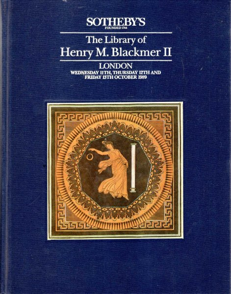 Image for The Library of Henry Myron Blackmer II : 11 -13 October 1989