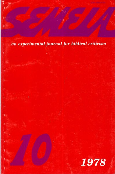 Image for Semeia : an experimental journal for biblical criticism - No 10 : Narrative Syntax Translations and Reviews