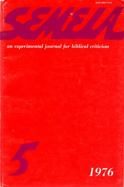 Image for Semeia : an experimental journal for biblical criticism - No 5 : Oral Tradiiton and Old Testament Studies