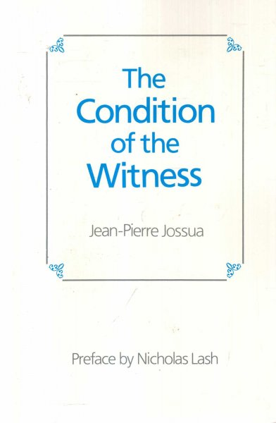 Image for The Condition of the Witness