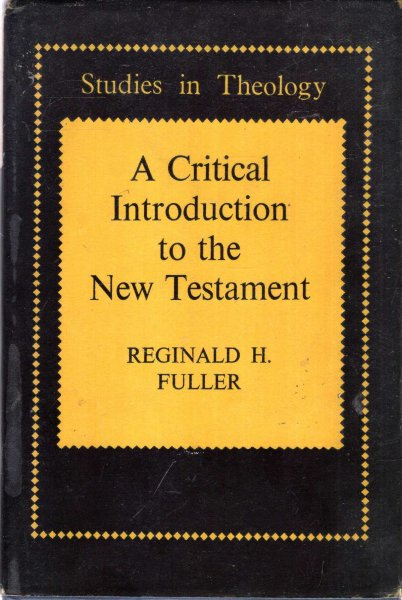 Image for A Critical Introduction to the New Testament