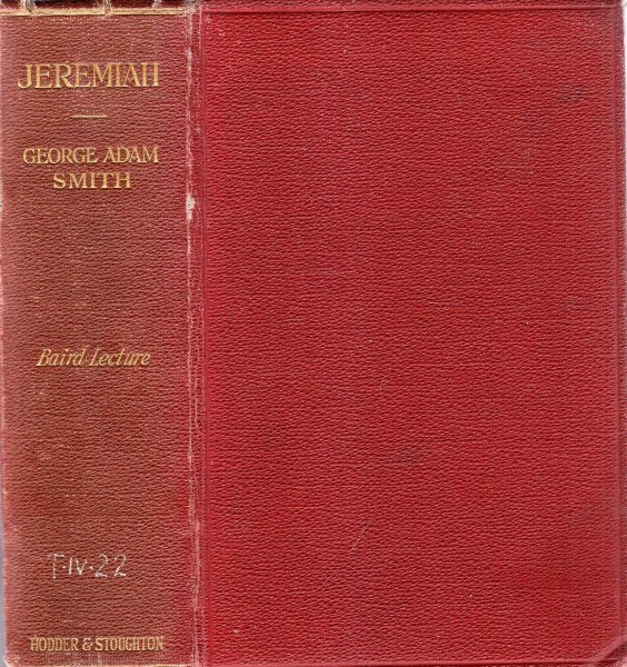 Image for Jeremiah, being the Baird Lecture for 1922