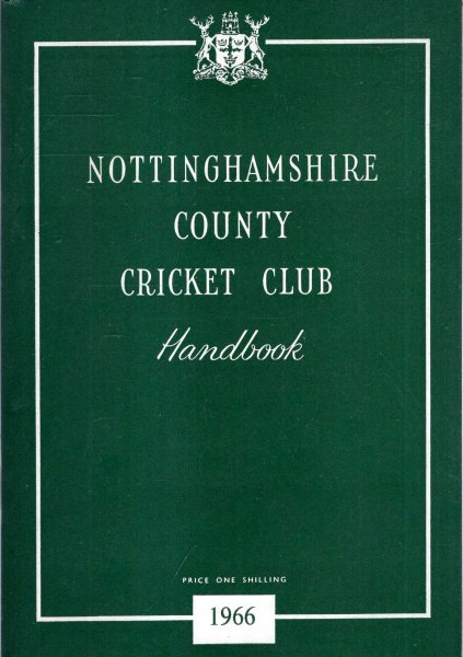 Image for Nottinghamshire County Cricket Club in 1965 : Handbook of 1966