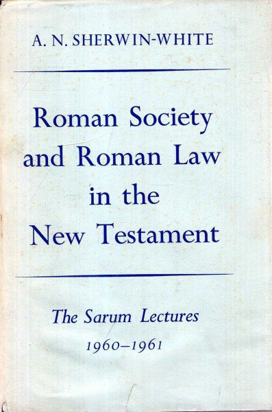 Image for Roman Society and Roman Law in the New Testament
