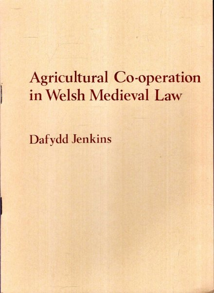 Image for Agricultural co-operation in Welsh Medieval Law