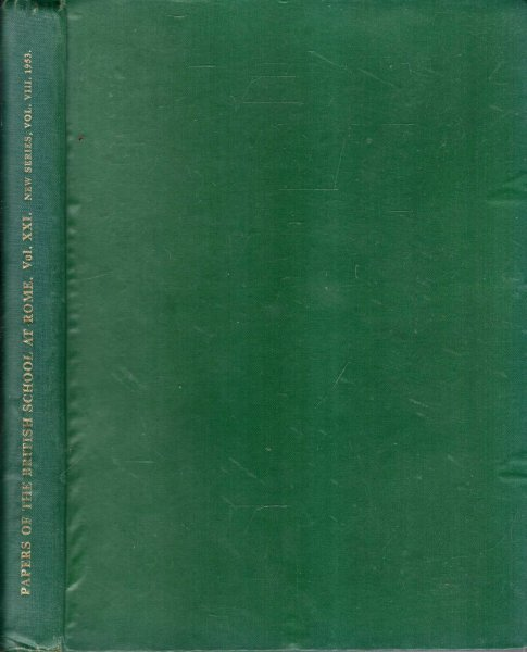 Image for Papers from the British School at Rome : volume XXI (New Series, volume VIII) 1953