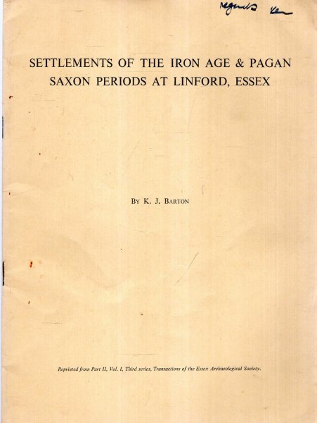 Image for Settlements of the Iron Age & Pagan Saxon Periods at Linford, Essex