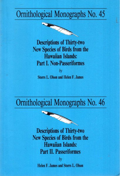 Image for Descriptions of thirty-two  New Species of Birds from the Hawaiian Islands, Parts 1 and 2 (Ornithological Monographs 45 and 46)