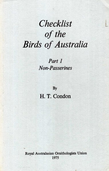 Image for Checklist of the Birds of Australia : Part 1 - Non-Passerenes