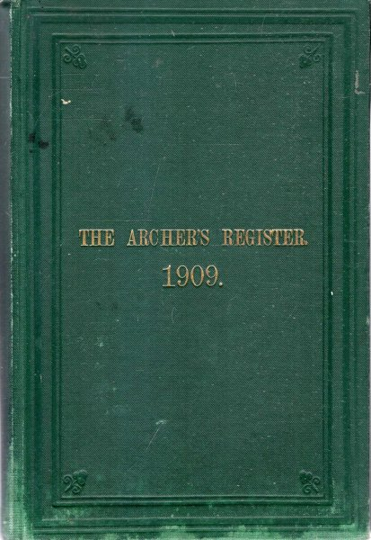 Image for The Archer's Register for 1908-1909