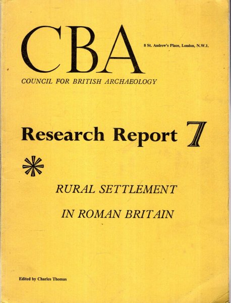 Image for Rural Settlement in Roman Britain : Council for British Archaeology Research Report 7