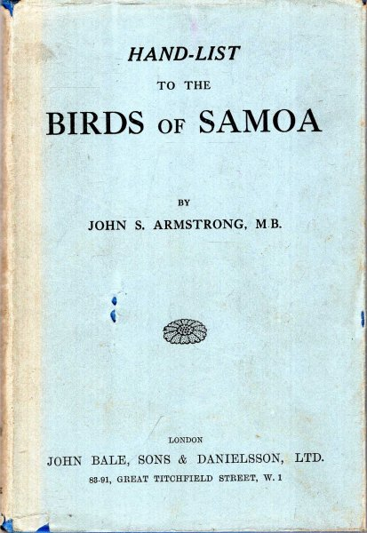 Image for Hand-list to the Birds of Samoa