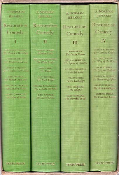 Image for Restoration Comedy (four volumes complete)